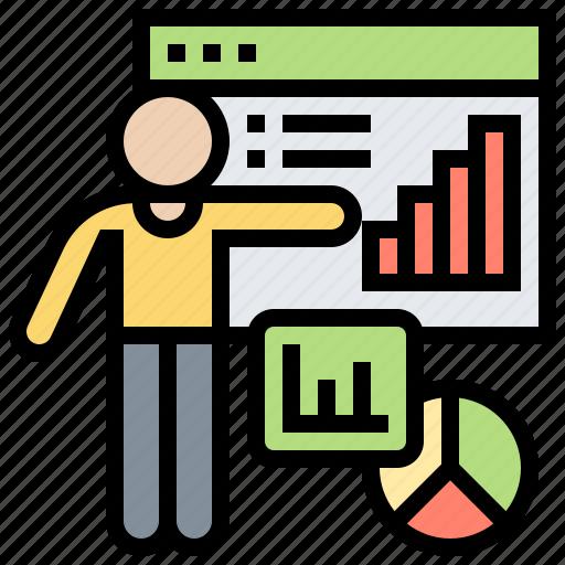 analysis, market, report, statistic, summary icon