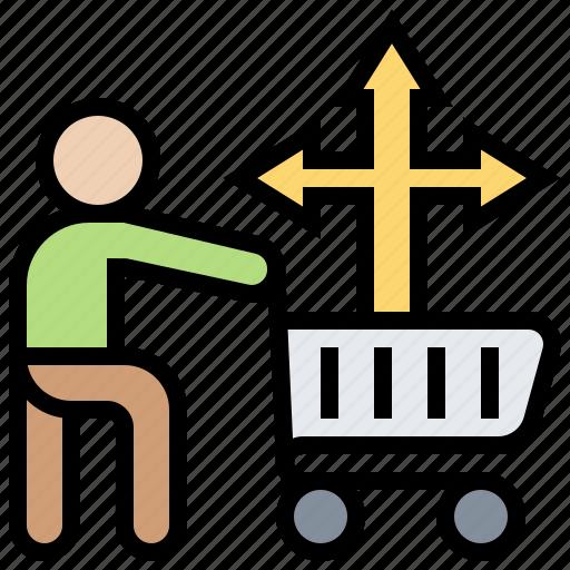 behavior, buying, customer, decision, process icon