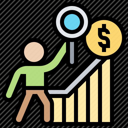 analysis, client, demand, develop, information icon