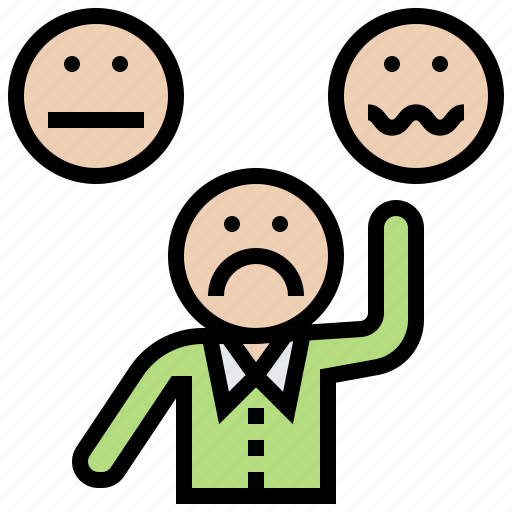 complaint, disappointment, dissatisfaction, feedback, trouble icon