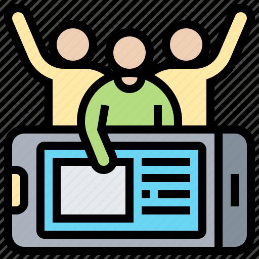behavior, customer, online, smartphone, social icon