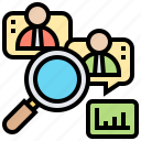 customer, qualitative, research, sampling, survey icon