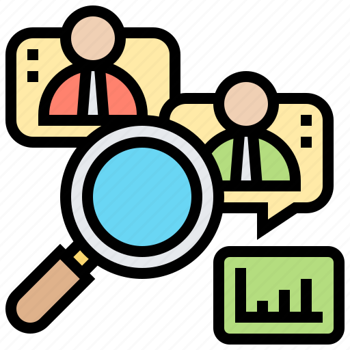customer, qualitative, research, sampling, survey icon