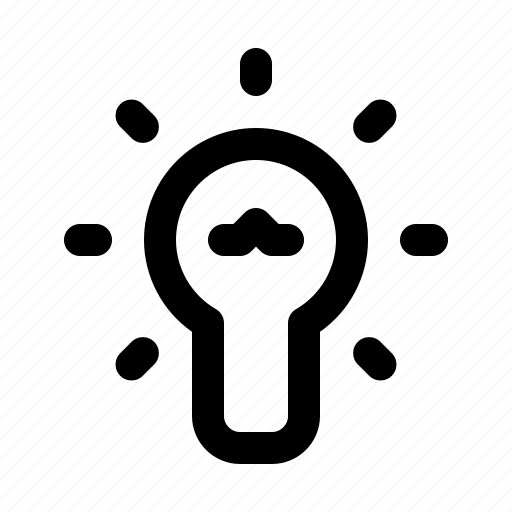 brightness, devices, electronics, lamp, light, products, technology icon