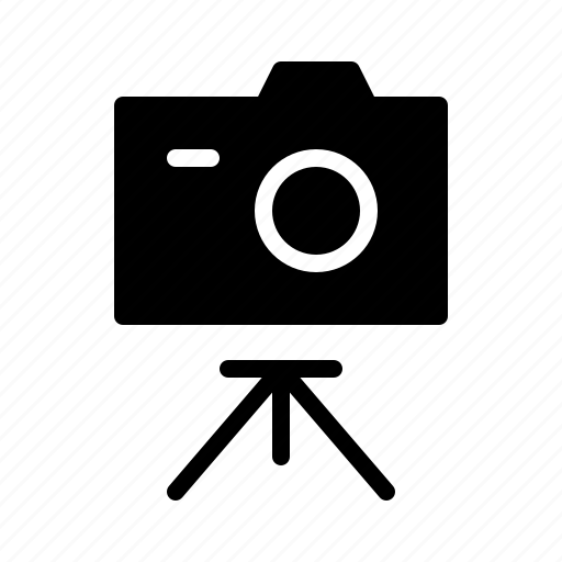 camera, devices, electronics, products, technology, tripod icon