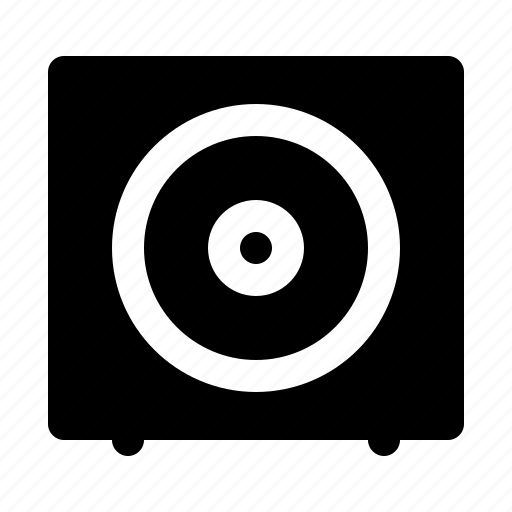 bass, devices, electronics, products, subwoofer, technology icon