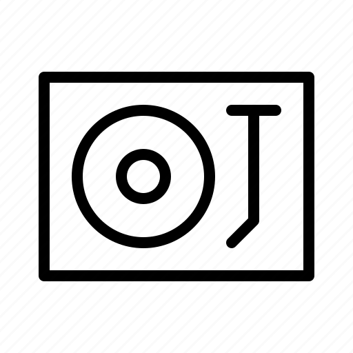 devices, electronics, products, technology, turntable icon