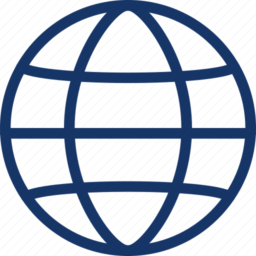 address, earth, globe, planet icon