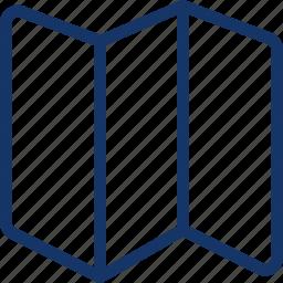 fold, gps, location, map icon