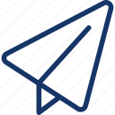 e-mail, email, mail, paper, plane icon