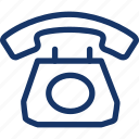 call, landline, old, phone, telephone icon