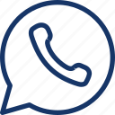 bubble, communication, message, phone, speech, talk, whatsapp icon