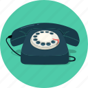 call, contact, old phone, telephone, vintage icon