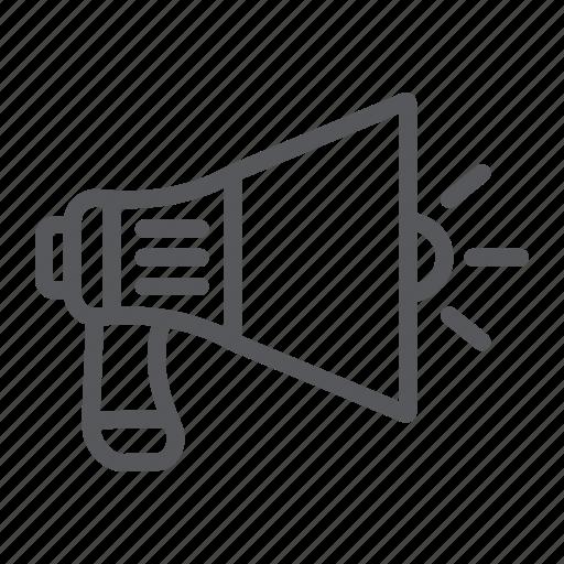 Announcement, loudspeaker, marketing, megaphone, speaker, viral icon - Download on Iconfinder
