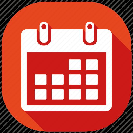 address, calendar, hour, internet, message, social media, social network icon