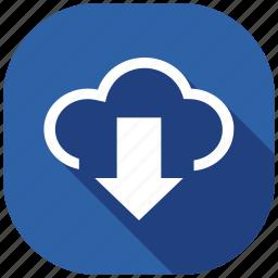 address, cloud, hour, internet, message, social media, social network icon