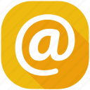 address, hour, internet, mail, message, social media, social network icon