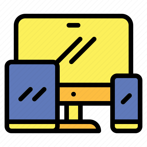 computer, devices, monitor, screen, smartphone, technology icon