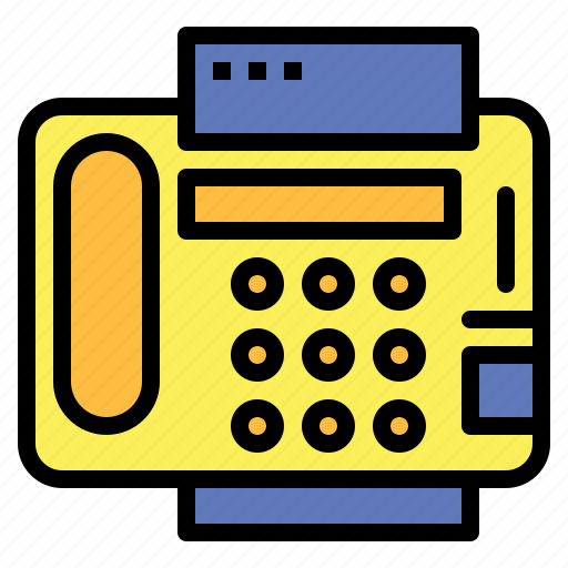 communications, fax, material, office, phone, telephone icon