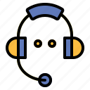 assistance, call, center, communications, delivery, headset, phone icon