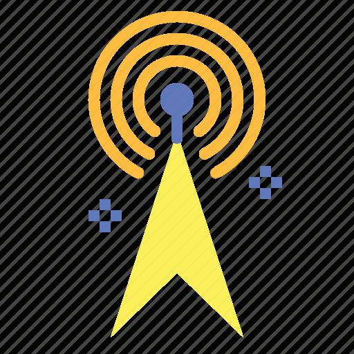 broadcast, broadcasting, communication, radio, technology icon