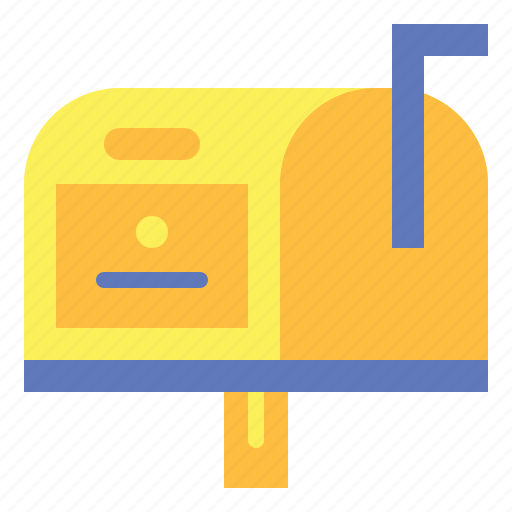 and, communications, letterbox, mail, mailbox, postbox, shipping icon