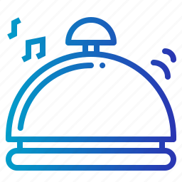 bell, call, communications, hotel, ring, ringing icon