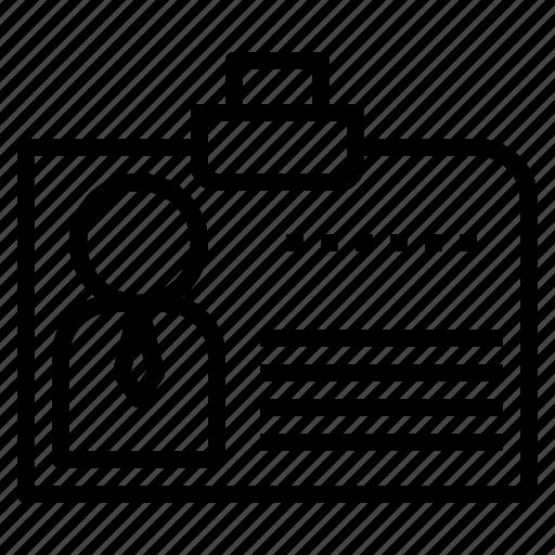 business, id, identification, ui, uiid icon