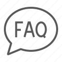 ask, bubble, faq, message, question, speech icon