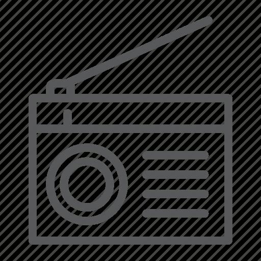 Antenna, communication, fm, media, music, radio, sound icon - Download on Iconfinder