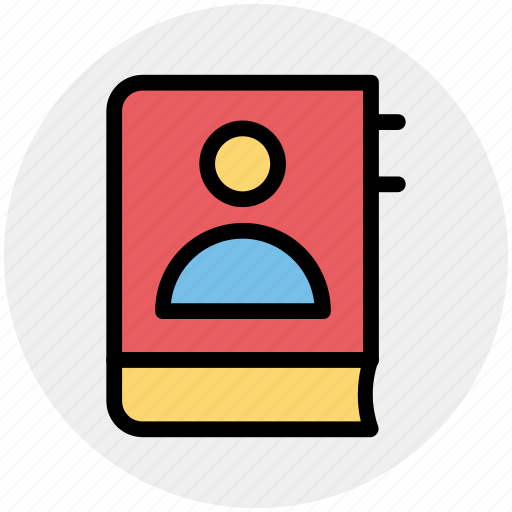 address, book, bookmark, contact book, contacts, phone, user icon