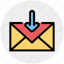 arrow, email, envelope, inbox, letter, message