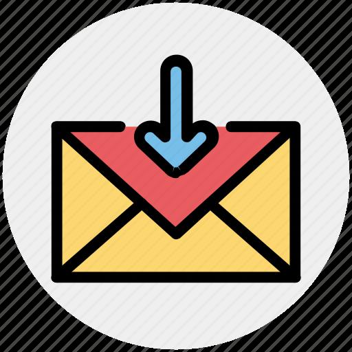 Arrow, email, envelope, inbox, letter, message icon - Download on Iconfinder