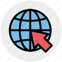 arrow, circle, earth, global, map, world, world globe icon