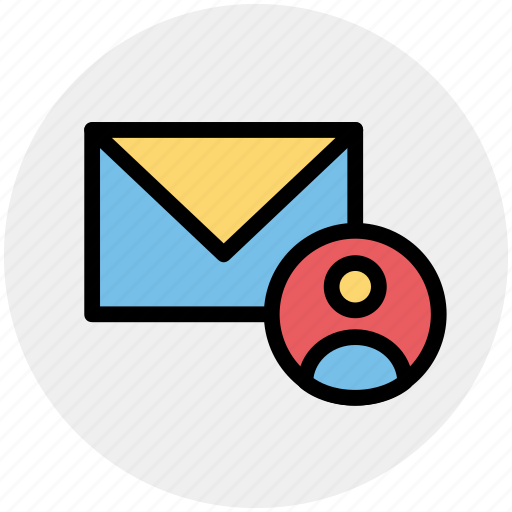account, email, mailer, message, person, user icon