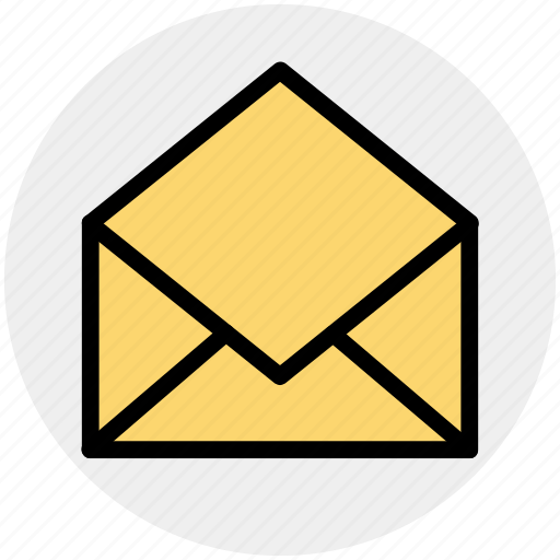 email, envelope, letter, message, open, open envelope, receive icon