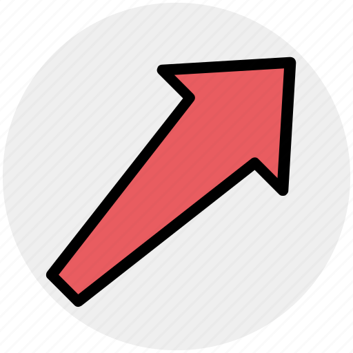 arrow, direction, right, up, up right icon