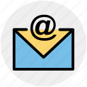 at, email, envelope, letter, message icon