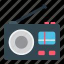 communication, fm, media, music, radio, retro, speaker icon