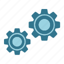 cog, cogwheel, gear, mechanism, setting, website icon