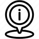 details, information, location icon