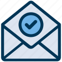 check, email, mail icon