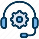 gear, headset, support icon