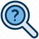 find, problem, search icon