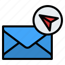 sending, email, letter, contact