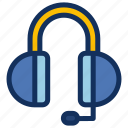 contact, customerservice, earphone, headphone icon