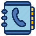 book, contact, list, phone, phonebook icon