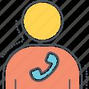 account, caller, contact, person icon