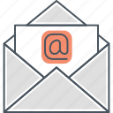 email, letter, mailing, mailing list, newsletter icon