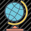 global, globe, spinning globe, worldwide icon